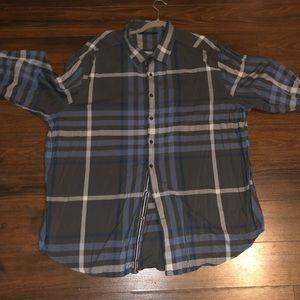 Perry Ellis 3x Dress Shirt plaid Big and Tall